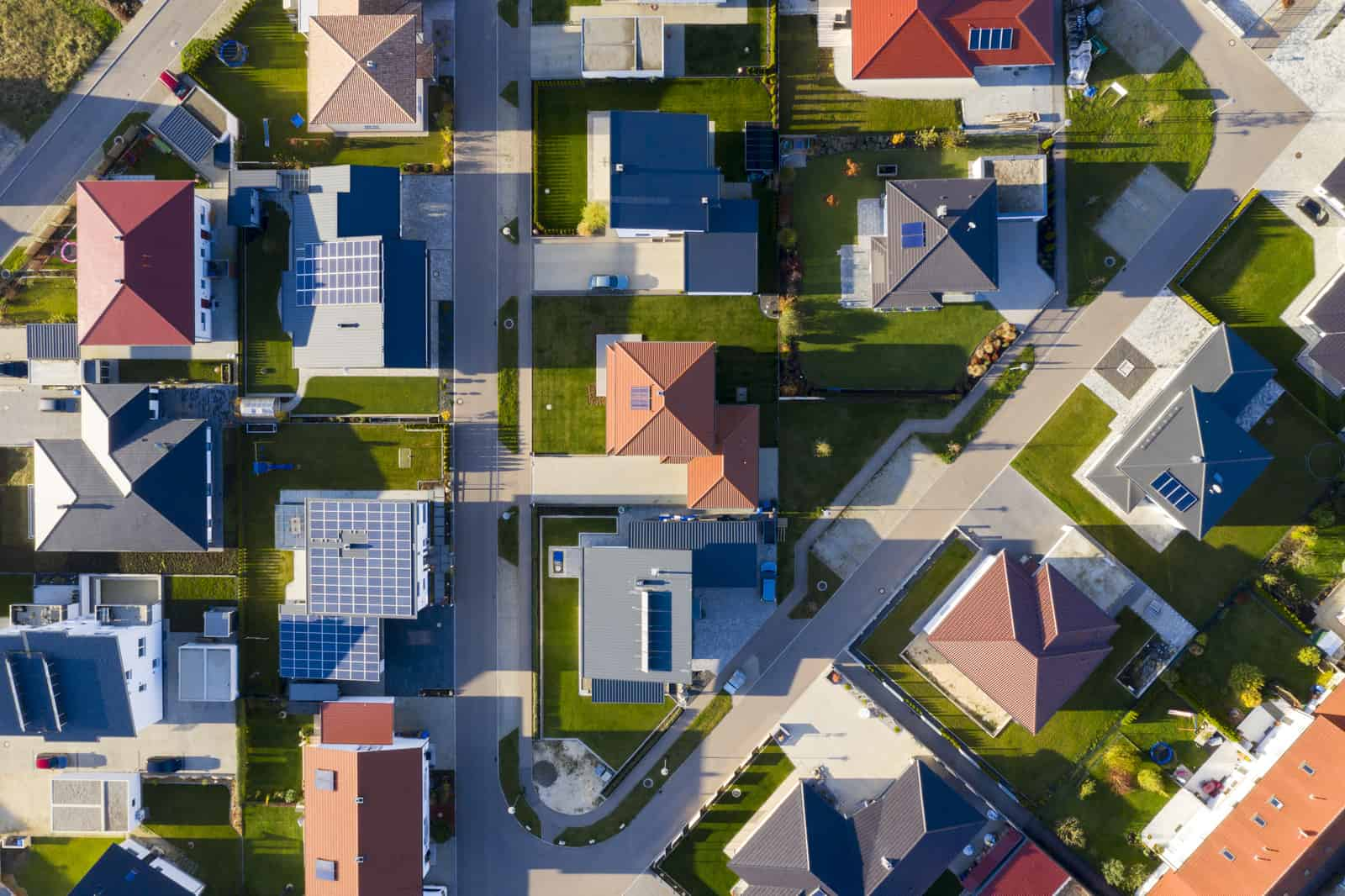 Houses in a New Housing Development, Aerial View