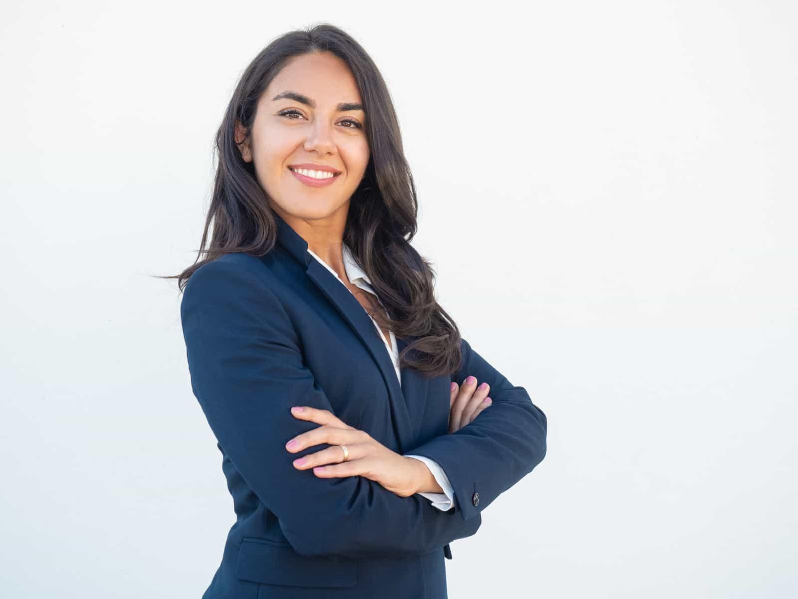 confident female real estate agent